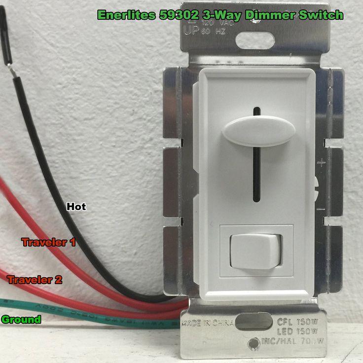 Enerlites 59302 W Universal Dimmer Switch Slide Dimmer