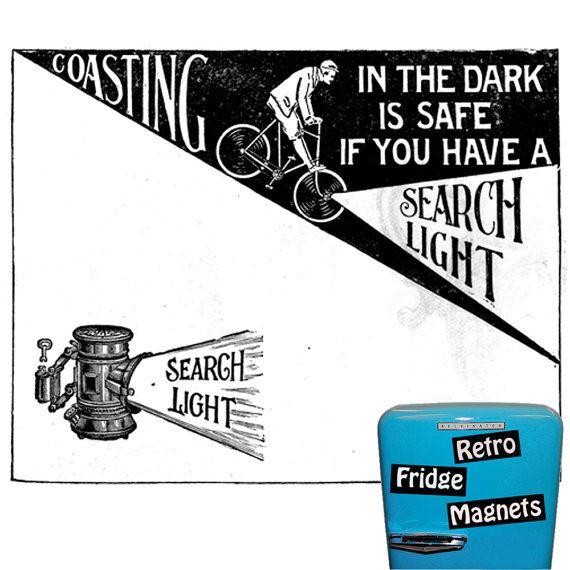 Retro Search Light Magnet   The Original by RetroFridgeMagnets, $2.00