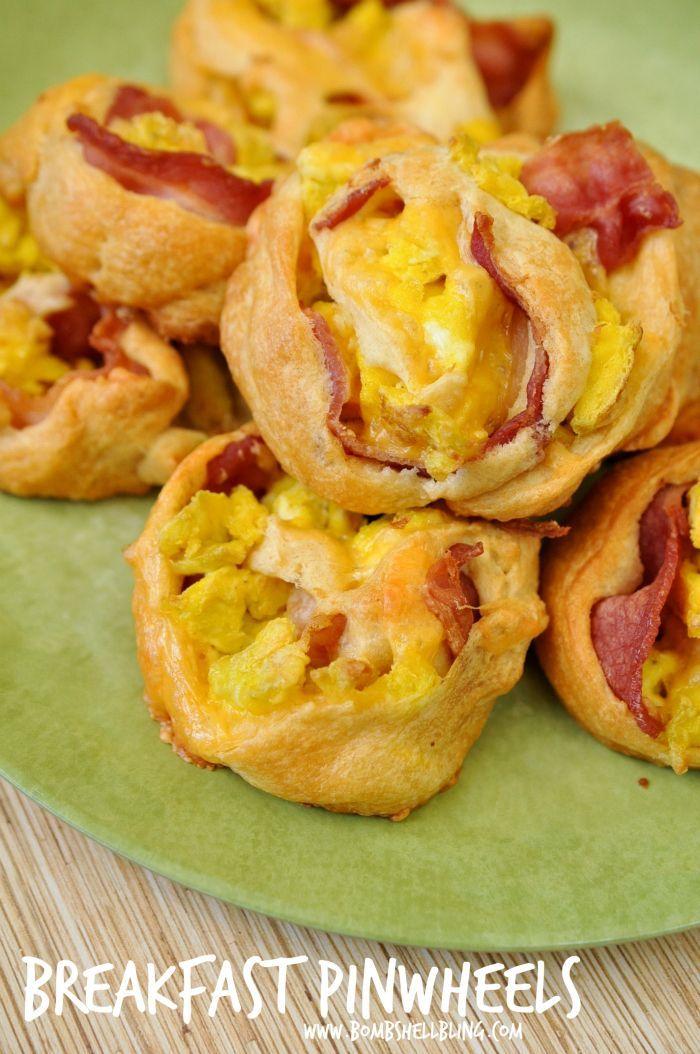 Bacon, Egg, & Cheese Breakfast Pinwheels   Bacon, The o ...