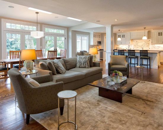 Spaces Open Kitchen And Family Room Design, Pictures, Remodel, Decor And  Ideas