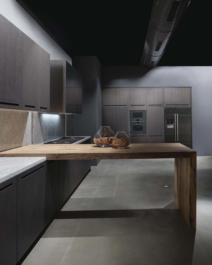 wood snack and wood kitchen model ZERO Showroom - RiFra Modena www.rifra.com
