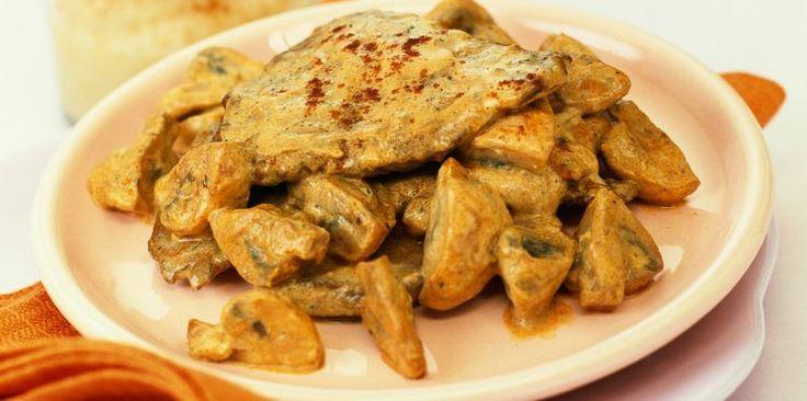 Escalope de veau à la crème et aux champignons de Paris