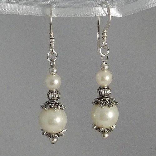 Pearl and Antique Silver Earrings. $10.00, via Etsy.  Our most popular earrings.  Are they grandma's, no one else will know.