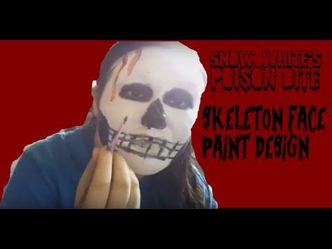 YouTube face paint designs snow whites poison bite