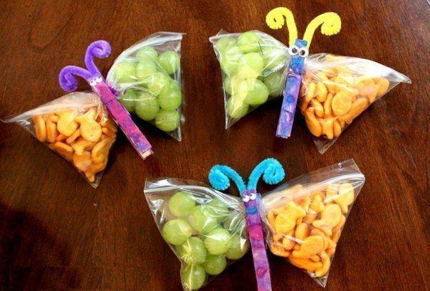 Zábavné a jednoduché tašky s zdravé svačiny pro děti / designu pro všechny!