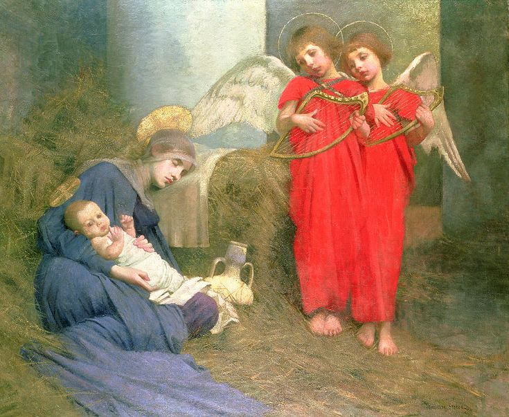 Angels entertaining the holy child painting by marianne for Paintings of toddlers