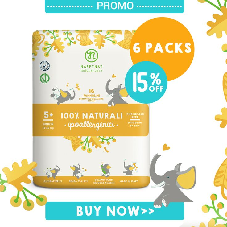 15% on #nappynat #diapers Deal Size Junior Size 18/309 Kg!  6 packs and 96 pieces!  #biodegradable #eco #skinsafe #promo
