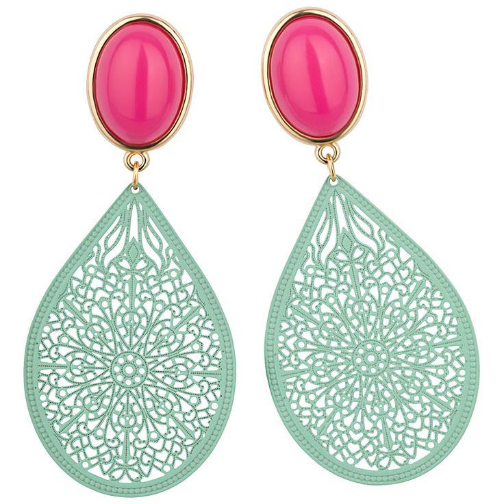 Modeschmuck ohrringe pink  21 besten Ohrringe Bilder auf Pinterest   Statement ohrringe ...