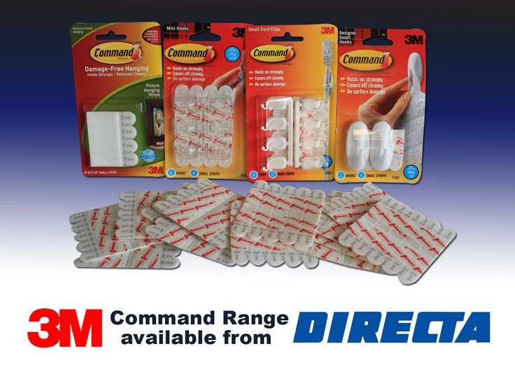 We have a great 3M Command Range that you will not be disappointed with! Get yours today from www.directa.co.uk