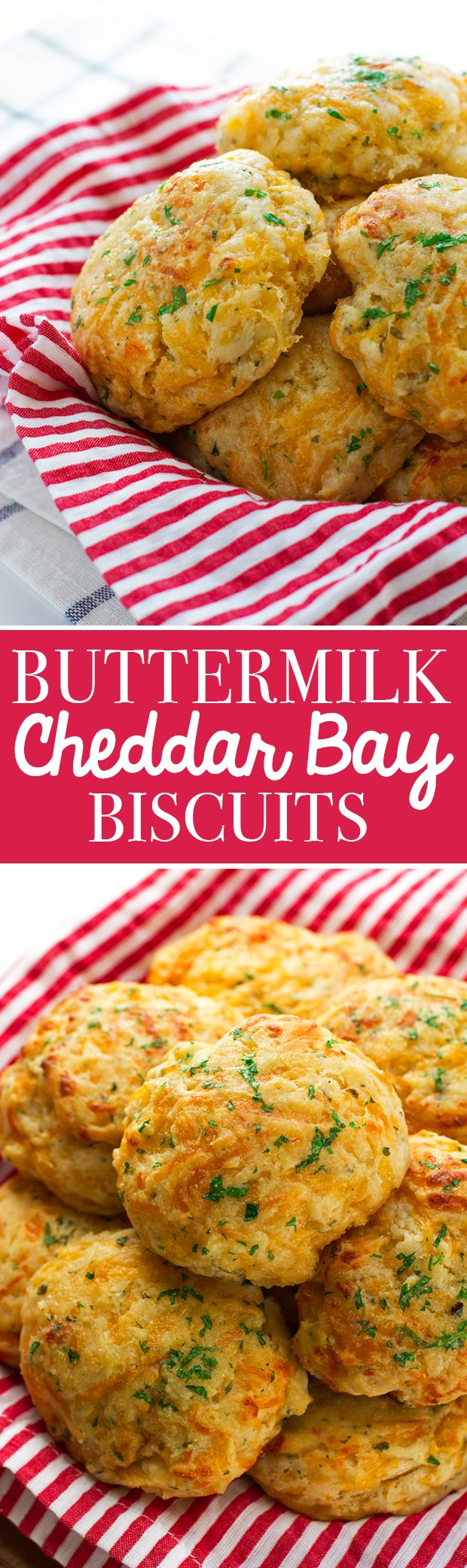 Buttermilk Cheddar Bay Biscuits - the most delicious Red Lobster style biscuits! #cheddarbaybiscuits #biscuits #redlobsterbiscuits | Littlespicejar.com