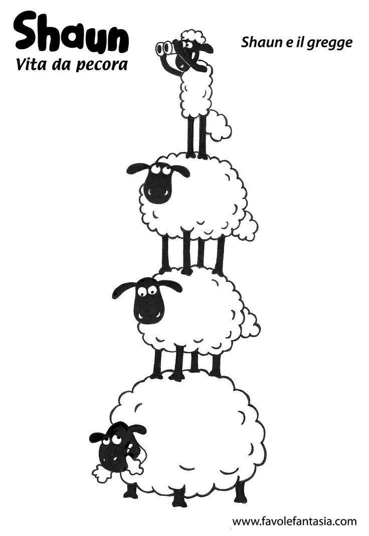 Shaun gregge vita da pecora disegni da colorare pecora for Immagini da colorare aristogatti