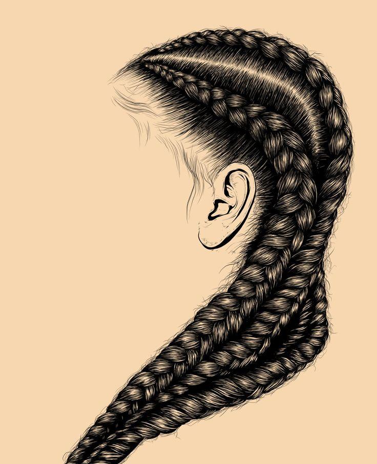 hair illustration digital art