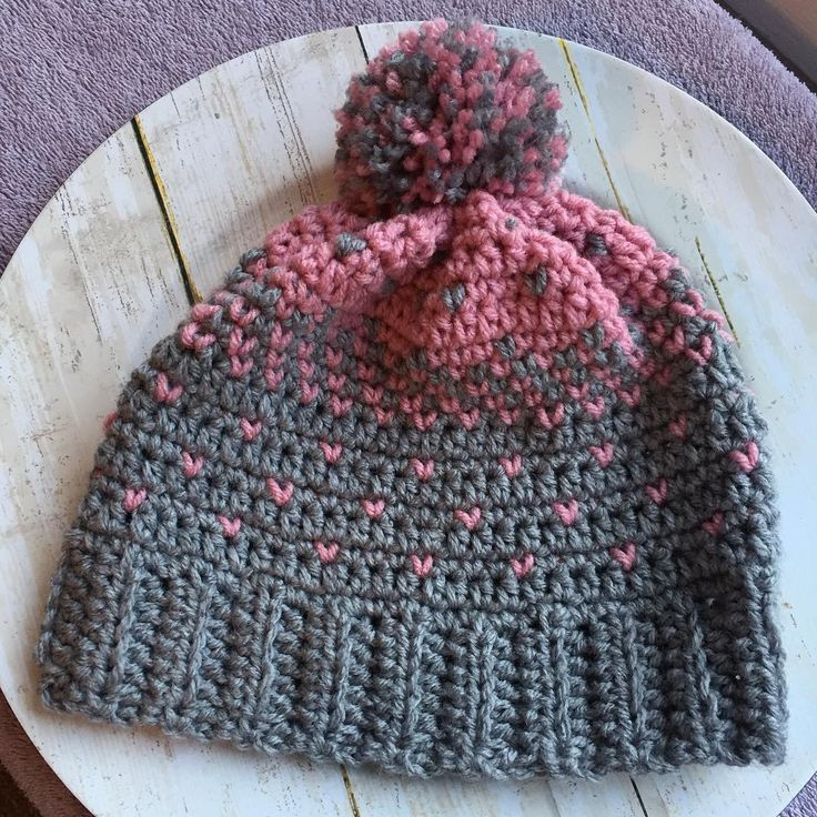 Lovely Heart Hat. Free pattern on wilmade.com. Made by Gaie Bergstrom (@yarninhandcreations)