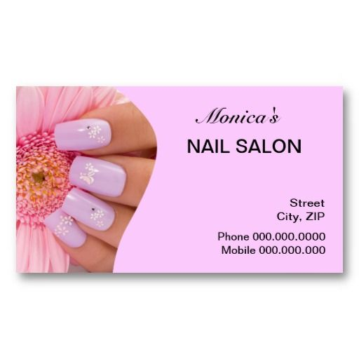 63 best customized nail salon business cards images on pinterest nail salon business card choose your color colourmoves Image collections