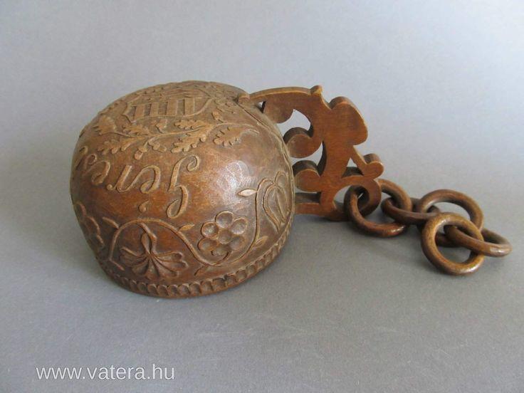 Faragott népi ivó csanak magyar címerrel 1883 - Vatera.hu