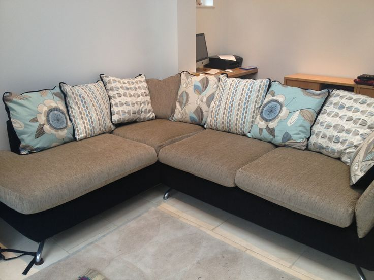 Re Upholstered Second Hand Corner Sofa Clarke And Festival Fabric