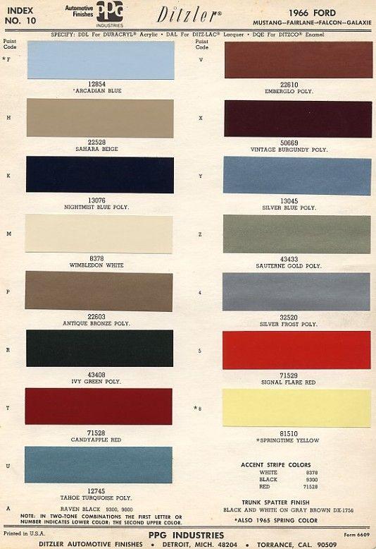 eb2708a6404124e830292b58d90e4fb7 mustang paint colors original colors of mustang 66 mustang pinterest mustang, 66