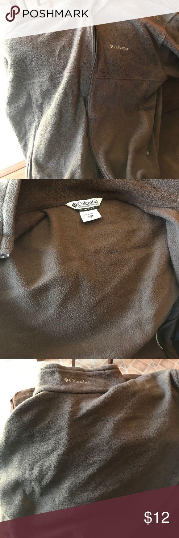Men's Columbia Fleece Jacket Brown Columbia Men's Fleece Columbia Jackets & Coats