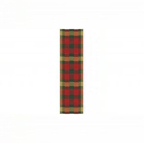 Christmas Plaid Cuff Bracelet - 8 Drop Odd Count Peyote Bead Pattern   BeadholdenDesigns - Patterns on ArtFire