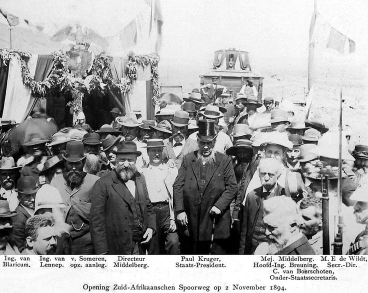 The Opening of the South African Railway by President Kruger | Flickr - Photo Sharing!