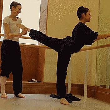 Hannah Bettes at the Royal Ballet School