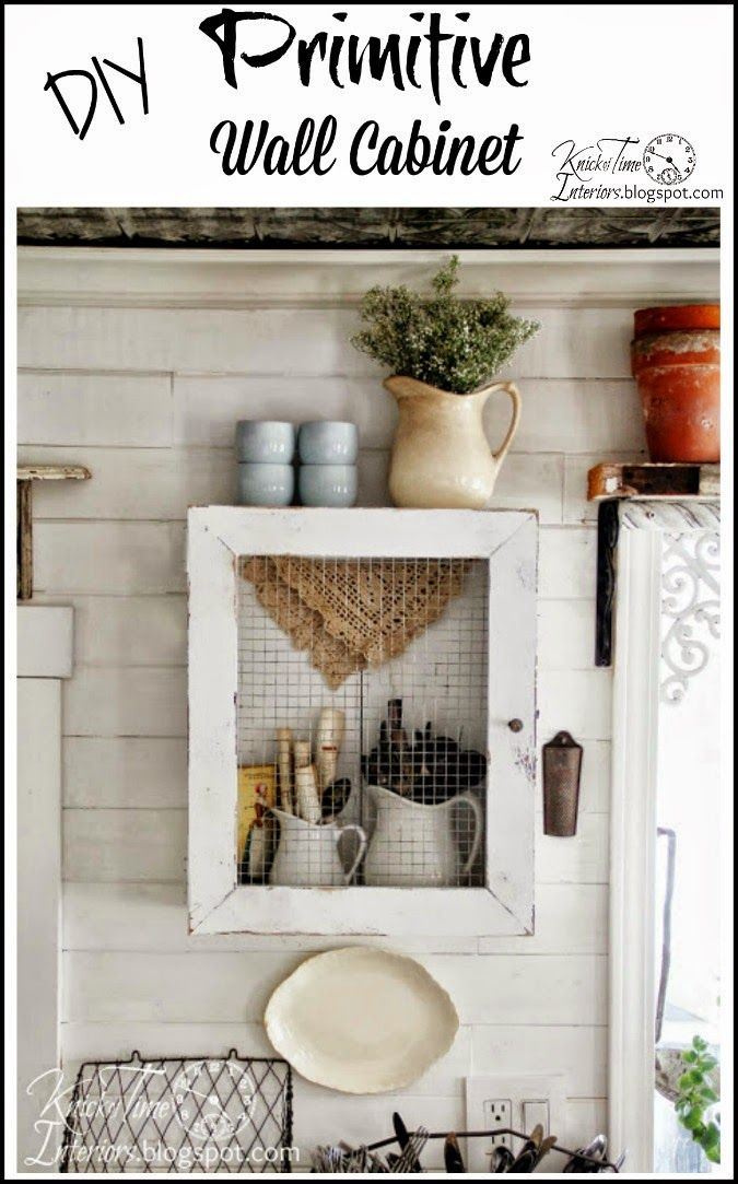 Repurposed Crate into Primitive Cabinet via KnickofTime.net