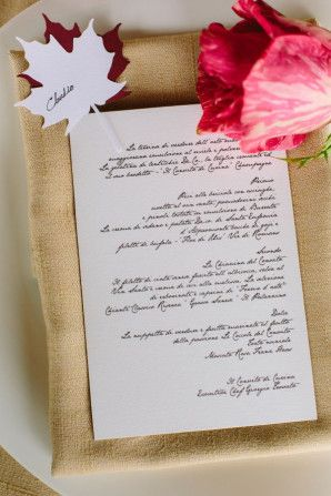 calligraphy menu // photo: marian bader