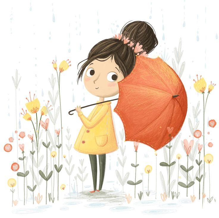 Those rainy summer days... www.lucyflemingillustrations.com