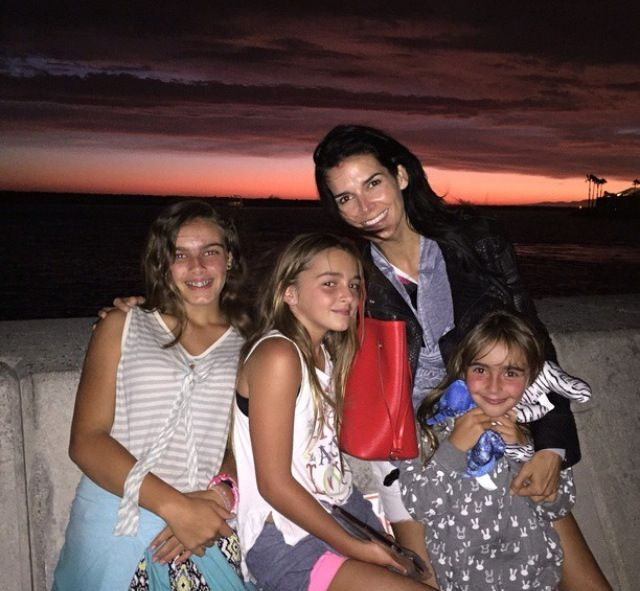 Angie Harmon with daughters