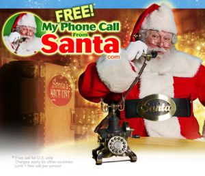 FREE Personalized Phone Call From Santa