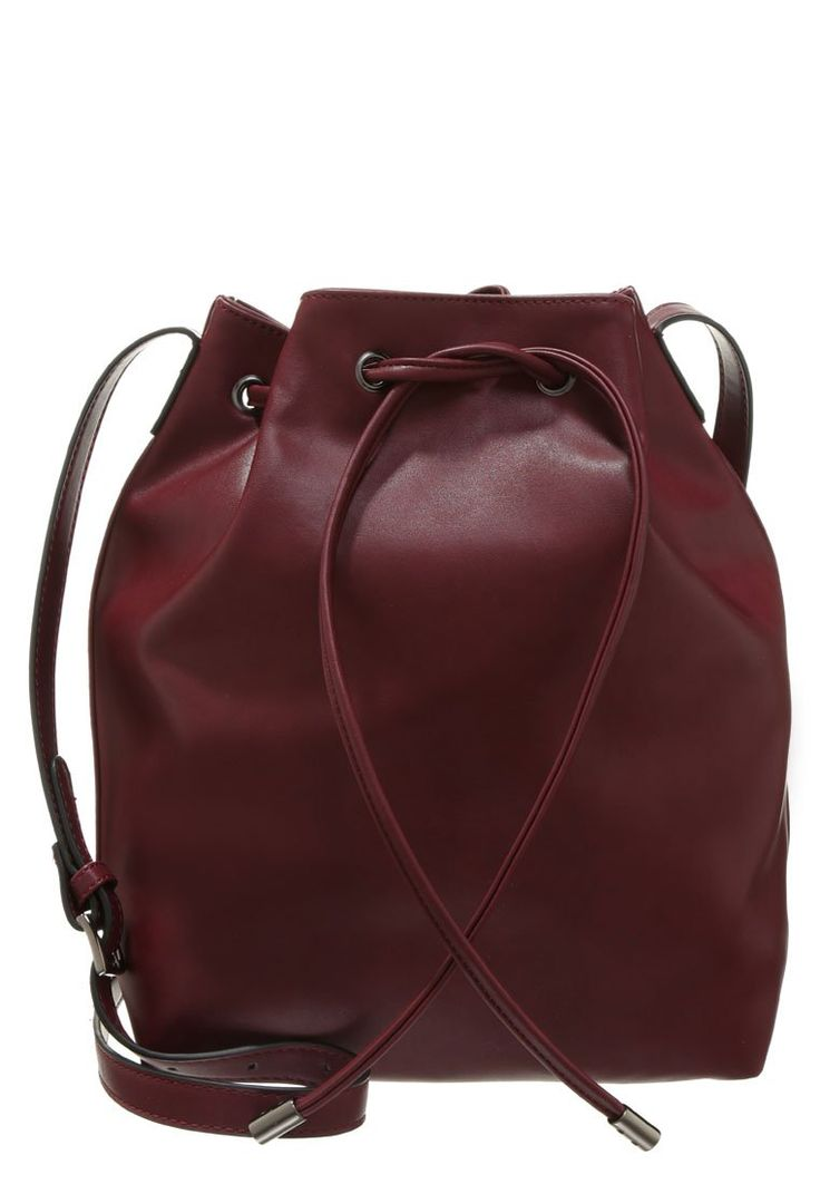 Even&Odd Worek bordowy Torba na ramię burgundy bucket bag marsala