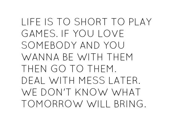Life Is Too Short To Play Game