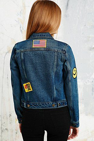 Courtshop Traveller Patch Jean Jacket - Urban Outfitters