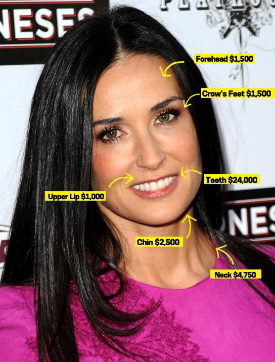 Demi Moore plastic surgery: she says in ELLE uk she Had plastic surgical operation, but not on her Face | Celebrity plastic surgery
