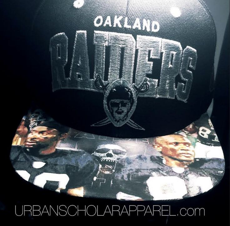 Oakland Raiders Mitchell and Ness Custom Brim by UrbanScholarApparel on Etsy