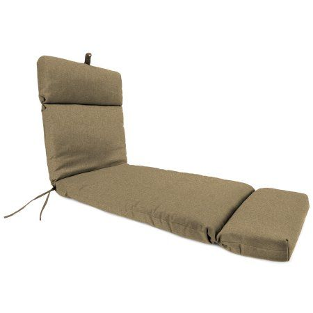 Jordan Manufacturing Outdoor Chaise Cushion, Linen Sesame, Beige