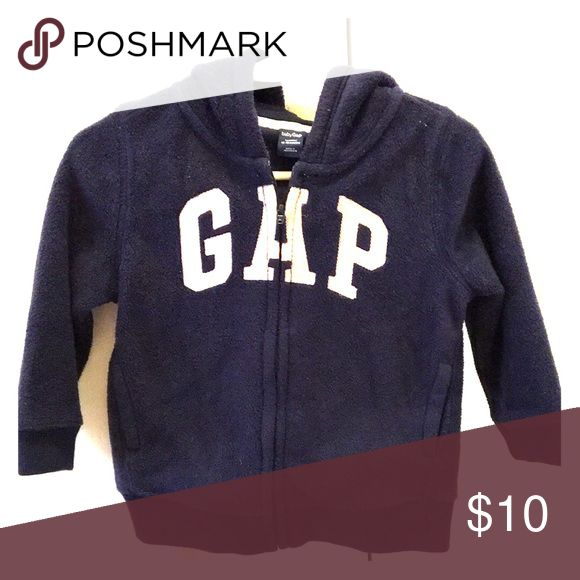 12-18 month gap fleece hoodie Gap navy zip up hoodie. So cute and gender neutral! GAP Jackets & Coats
