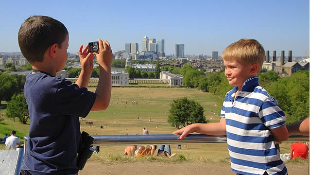 Greenwich: royal observatory (prime meridian), cutty sark