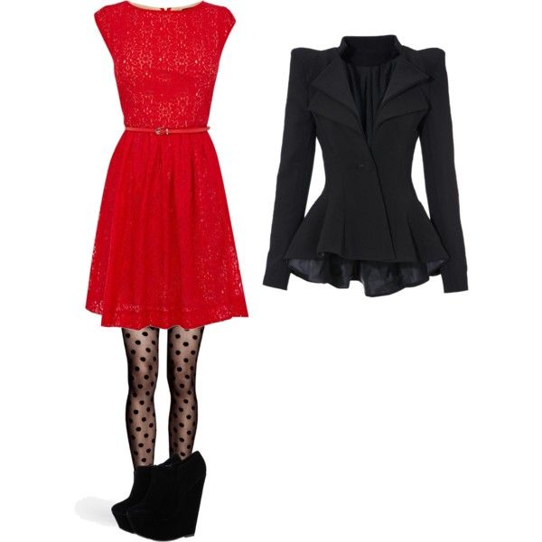 """Winter Dressy Outfit"" by boogeronioni on Polyvore"