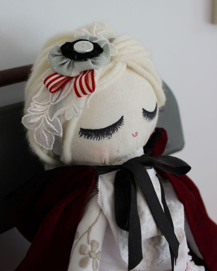 "Cloth Doll Plush : Custom ""Little Red Riding Hood"" for Ruby"