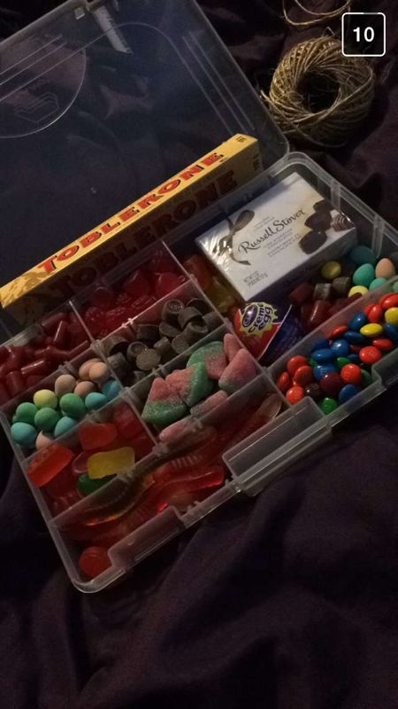 Valentines Day Gift for Boyfriend Fishing candy tackle box