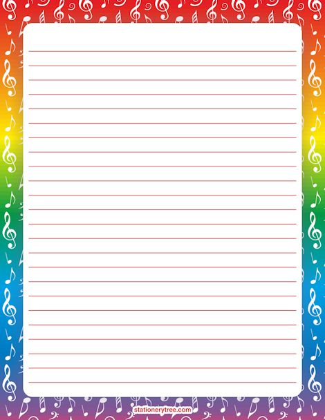 Music Stationery and Writing Paper