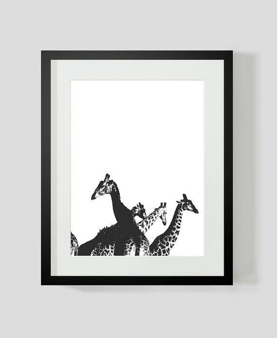GIRAFFE Print by TheOrangeSeller on Etsy