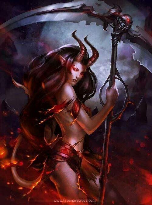 demons taking women from earth