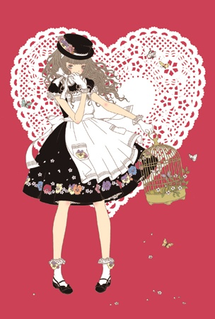 Kira Imai's lolita postcard for Angelic Pretty