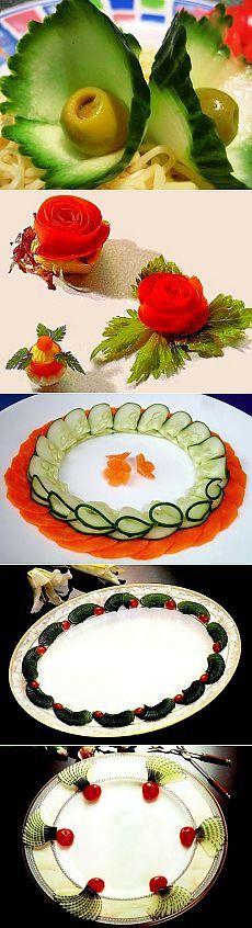 Украшения для блюд из овощей и фруктов: несколько простых идей - Ladiesvenue