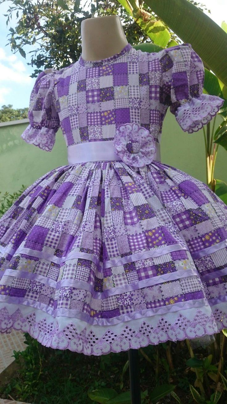 Vestido Junino Menina Lílian da Liluart Roupas Infantis  Whatsapp 61 9 99762373