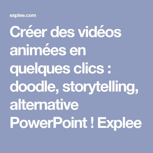 Créer des vidéos animées en quelques clics : doodle, storytelling, alternative PowerPoint ! Explee