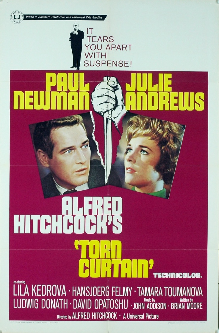 Torn Curtain (1966) Directed by Alfred Hitchcock. With Paul Newman, Julie Andrews