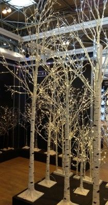 Event Prop Hire: LED White Birch Tree - 10ft